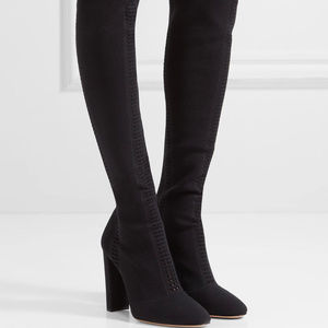 Gianvito Rossi Vires Knit Over-The-Knee Boots